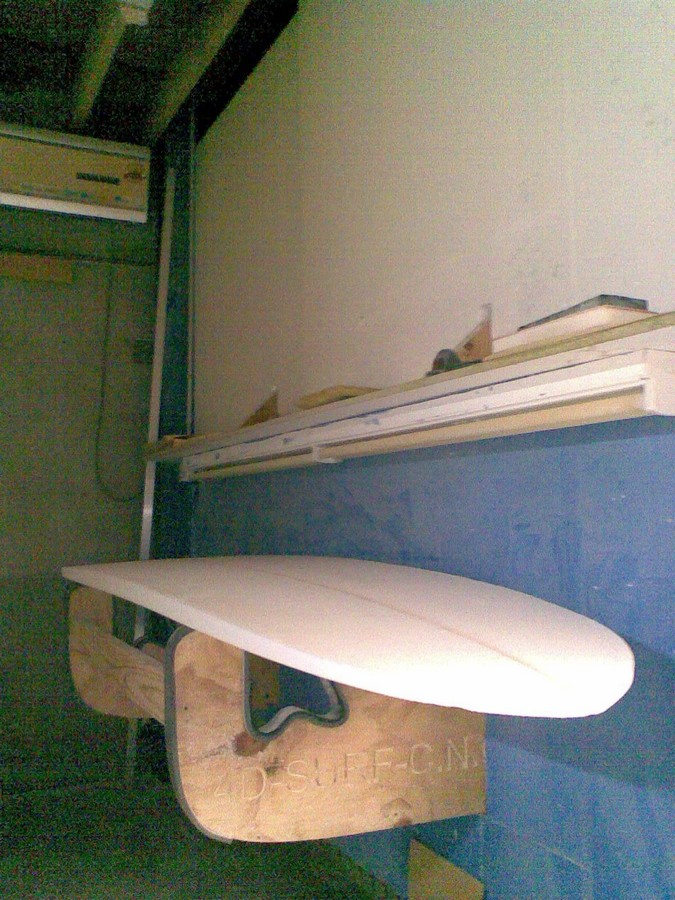 Surfboard Blank on stand