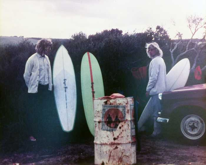 Bells Car Park, 1972, John Jolly and Ronnie Roozen aged 17, Morning of the Earth had just been released. Photo taken by Dale Evans