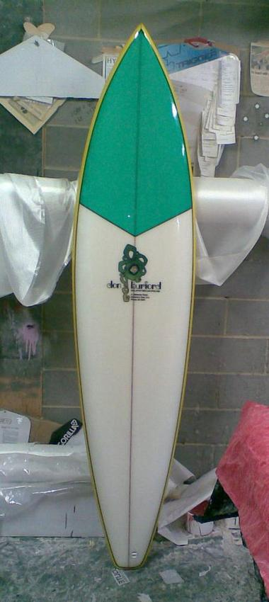 The completed replica surfboard.
